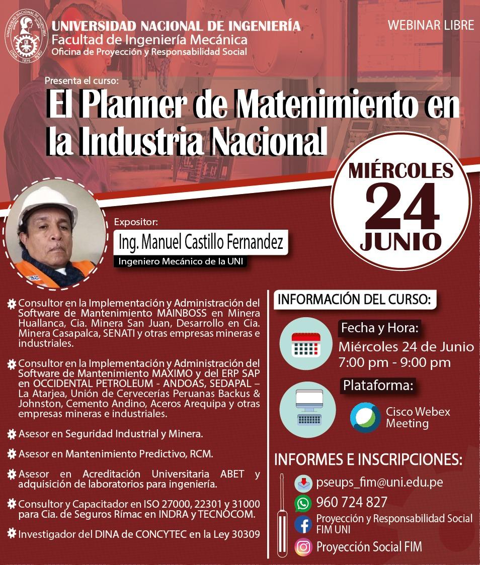El Planner de Mantenimiento en la Industria Nacional